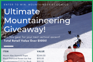 Mountaineer – Win The Ultimate Mountaineering Giveaway Valued at Over $1000 (prize valued at $1,000)