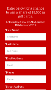 Mt Ommaney SC – Win a $500 Gift Card (prize valued at $5,000)