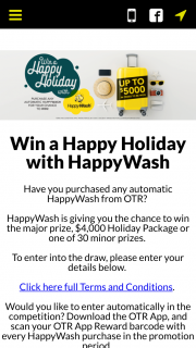 On The Run – Win a Happy Holiday With Happywash (prize valued at $54.95)