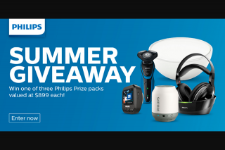 Philips – Promotion – terms and Conditions (prize valued at $2,697)