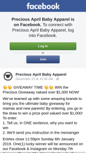 Precios April – Win The Precious Giveaway Valued Over $1000 Now (prize valued at $1,000)