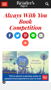 Readers Digest – Win One of Five Copies of Always With You