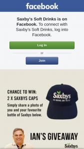 Saxbys Soft Drinks – Win Two Saxbys Caps