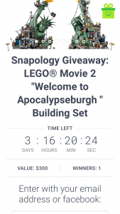 Snapology of Pittsburgh – Win One (1) (prize valued at $300)