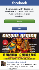 South Aussie With Cosi – Win a Family Pass to See Cirque Africa at The Fringe?