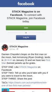 Stack Magazine – Win One of Two First Man Jackets