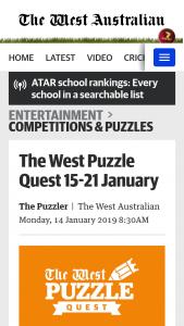 The West Australia Pizzle Quest – Competition