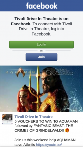 Tivoli Drive-In theatre Ipswich – Win a Car Pass to Aquaman Followed By Fantasic Beast