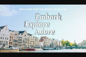 TourRadar – Win Your Stay In a Deluxe Cabin on a River Cruise In Europe (prize valued at $4,460)