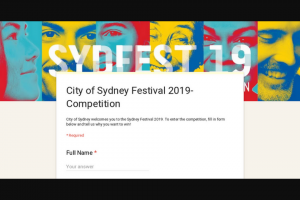 "Westfield Sydney – ""win 2 Tickets to The Sydney Festival"""