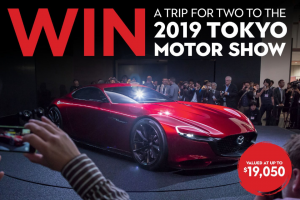 WhichCar TV Bauer Media – Win a Trip for Two to The 2019 Tokyo Motor Show (prize valued at $19,050)
