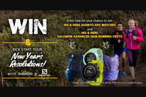 Wild Earth – Win His & Hers Suunto Gps Watches & Salomon Advanced Skin Running Vests From Wild Earth