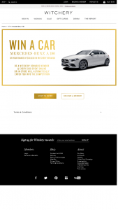 Witchery – Win a Mercedes Benz With Witchery (prize valued at $49,637)
