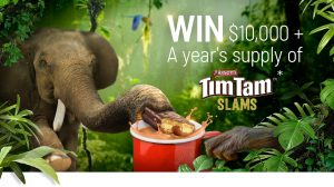 Network 10 – Arnott's Tim Tam Slams – Win a prize package of $10,000 cash and a years' supply of Tim Tam Slams
