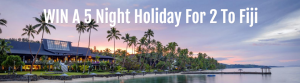 Travel On Line – Win a travel package for 2 including flights and 5-night accommodation in Fiji (total valued at $3,700)