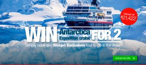 Webjet – Win an Antarctica Expedition cruise for 2 valued at $21,422