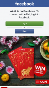 AAMI – Win Two Aami Red Envelopes (prize valued at $1,000)