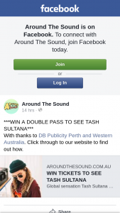 Around The Sound – Win a Double Pass to See The Show