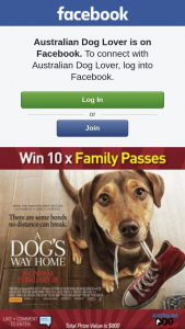 Australian Dog Lover – Win a Prize (prize valued at $800)