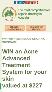 Australian Organic Directory – Win an Acne Advanced Treatment System for Your Skin (prize valued at $227)