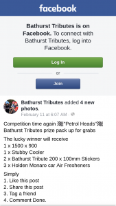 Bathurst Tributes – Will Receive