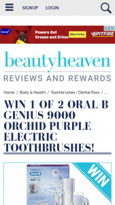 Beauty Heaven – Will Score a Genius 9000 Orchid Purple Electric Toothbrush