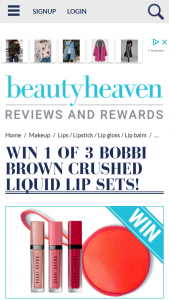Beauty Heaven – Win a Bobbi Brown Cute Red and Pink Clutch That Houses Three Shades of Crushed Liquid Lips