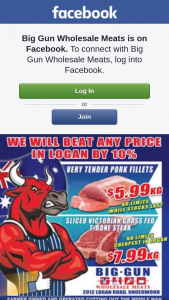 Big Gun Wholesale Meats Underwood – Win $100 Voucher (prize valued at $100)