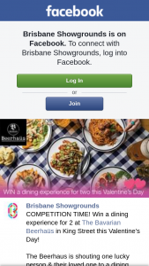 Brisbane Showgrounds – Win a Dining Experience for 2 at The Bavarian Beerhaüs In King Street this Valentine's Day (prize valued at $120)