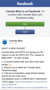 Canstar Blue – Win an Oppo R17 Pro (prize valued at $899)
