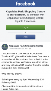 Capalaba Park Shopping Centre – Win a $50 Gift Card for Valentine's Day