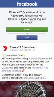 Channel 7 Qld – Win The Ultimate Date Night on The #channel7 The Wheel of Brisbane