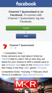 Channel 7 Quensland – Win a Double Pass to See Brisbane Heat Take on The Melbourne Stars this Friday In The Final #bbl Game (prize valued at $570)