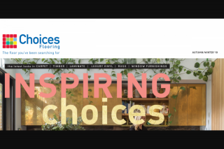 Choices Flooring – Win $5000 Worth of Flooring (prize valued at $5,000)