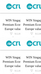 Cruise Passenger – Two (2) Premium Economy Return Airfares to Europe