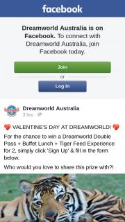Dreamworld Australia – Win The Ultimate Valentine's Day at Dreamworld