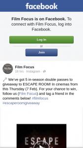 Film Focus – to Escape Room