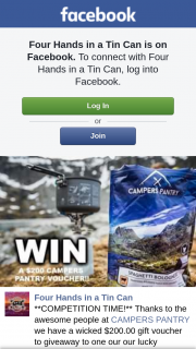 Four Hands In a Tin Can – Competition (prize valued at $200)