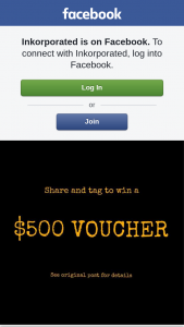 Inkorporated – Competition (prize valued at $500)