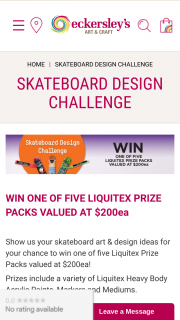 Jasco Pty Ltd & Eckersley's – Share your Skateboard Design & – Win 1 of 5 Prize Packs (prize valued at $200)
