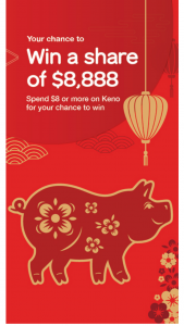 Keno [QLD – Win One (1) Prize Per Ticket (prize valued at $35,552)