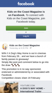 Kids on the Coast – // a Dog's Way Home Is Out In Cinemas From February 28…