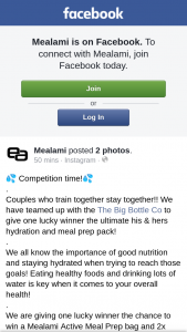Mealami – Win a Mealami Active Meal Prep Bag and 2x 2.2liter Bottles From The Big Bottle Co