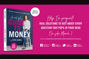 Money Magazine – Win One of Five Copies of a Real Girl's Guide to Money Signed By Effie Herself
