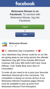 Motorama Nissan – $50 Event Cinemas Gift Card