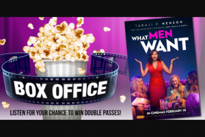 5mu SA – Win a Double-Pass to Taraji P Henson's New Hilarious Film 'what Men Want' Out February 14. (prize valued at $40)