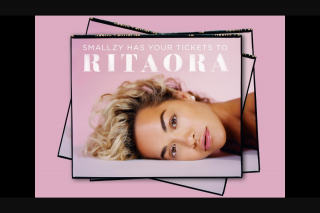 Nova FM Smallzy's sending you to see Rita Ora live – Tickets for You and a Friend to See Her Live (prize valued at $750)