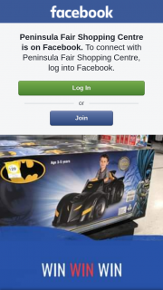 Peninsula Fair Shopping Centre – Win //we Asked If You'd Like The Chance to Win this Batman Car and You Said Yes (prize valued at $129)
