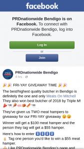 PRDnationwide Bendigo – Win a $55 Meat Hamper