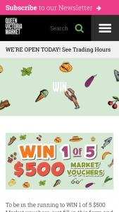 Queen Victoria Market – Win 1 of 5 $500 Market Vouchers (prize valued at $2,500)